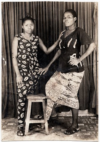 Cousins of Quintin Katembera. From a Katembera family photo album. Photographer unknown. Bukavu, D.R.C., c. 1980.