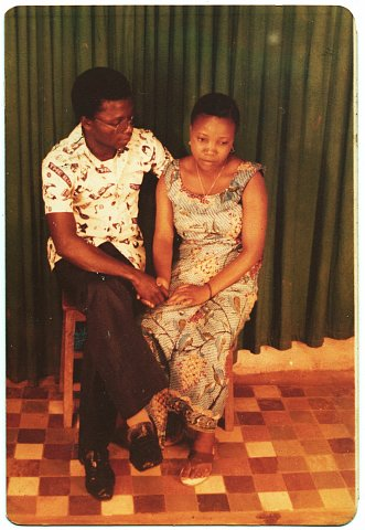 Before marriage. Quintin Katembera and Janette Katembera. From a Katembera family photo album. Photographer unknown. Bukavu, D.R.C., September 1978.