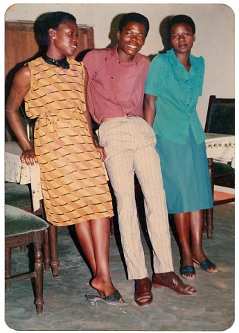 From a Nshindi family photo album. Photographer unknown. Kinshasa, D.R.C., c. 1990.