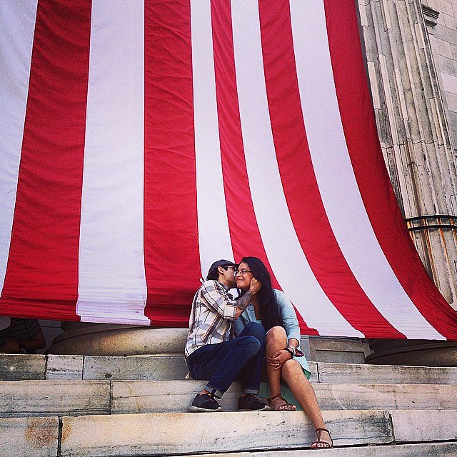 The wait is over. #brooklyn #afterwork #usa #love #flag