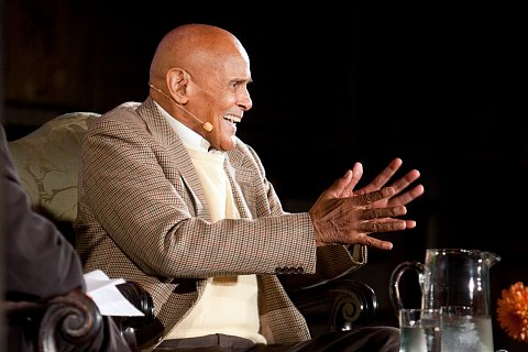 Harry Belafonte in conversation with Paul Holdengraber at the New York Public Library in New York, New York. October 12, 2011.