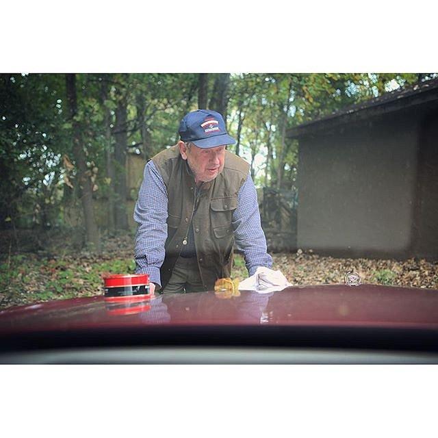 My dad, Bob, polishing the Cadillac he inherited from his father, Bob. #minnesota #family #onassignment #latepost #midwest #usa #cadillac #idliketogohomenow