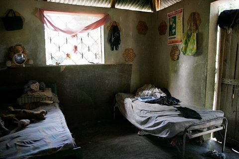 A child's bedroom in Port Salut, Haiti. July 2007.