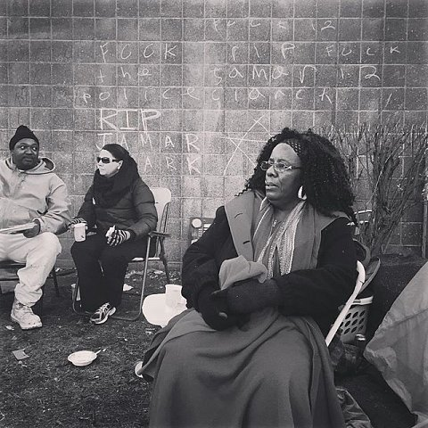 """Renee Finn has lived in North Minneapolis all her life. """"I'm here to support. My cousin used to be Jamar's girlfriend. Just met him for a short little time and next thing I know he was gone. I just want justice, that's all I'm looking for. Justice would make me happy. Then maybe we can have peace. It bothers me that the larger community doesn't fight unless someone gets killed. They need to put themselves in the family's shoes."""" #blacklivesmatter #jamarclark #protest #minnesota #minneapolis #releasethetapes"""