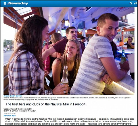 """The best bars and clubs on the Nautical Mile in Freeport"" <br>Photographs published August 19, 2015."