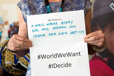 #WorldWeWant event at United Nations in New York, New York. June 17, 2014.