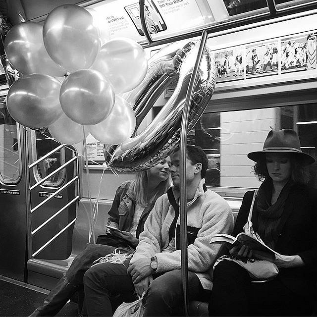 #subway #nycmta #newyork #love #balloons #saturday