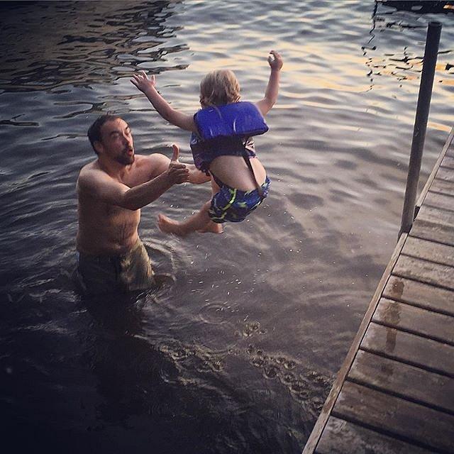 #boys #swimming #lakeminnetonka #minnesota #midwest #family #evening #peace