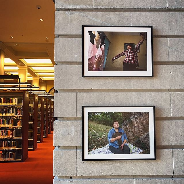 """""""In Forced Geographies"""" is on view at the beautiful Slover Library in Norfolk, VA. The exhibition looks at daily life in Manenberg, South Africa and Cherokee, North Carolina, two communities whose geographic borders were forcefully changed during periods"""