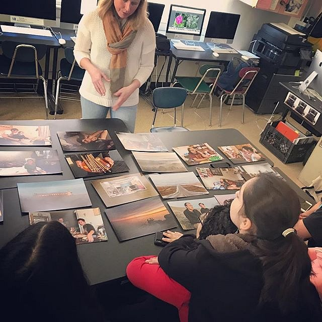 Thanks, @leighklonsky for inviting me to speak to your photography class about sequencing at East Side Community High School yesterday. Talk about some talented students. : Leigh Klonsky #teachingphoto #newyork