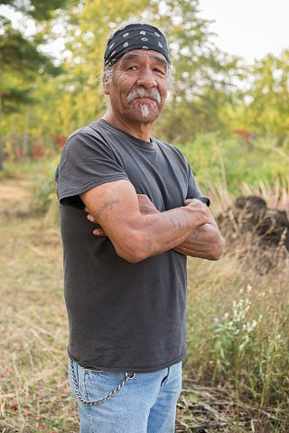 Darrell Geshick, 64, is Ojibwe and a member of Red Lake Nation in northern Minnesota. He works with the Red Lake Local Food Initiative as gardener. <br>September 13, 2017.