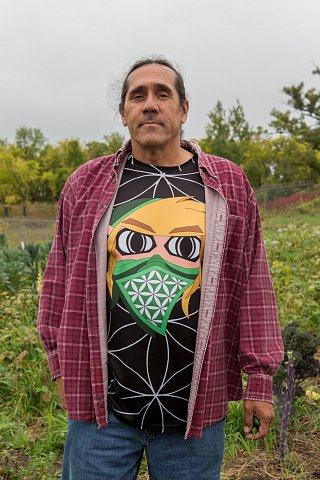 David Manuel, who is Ojibwe and a member of Red Lake Nation, is the Foods Initiative Coordinator on the Red Lake Indian Reservation in northern Minnesota. <br>September 15, 2017.