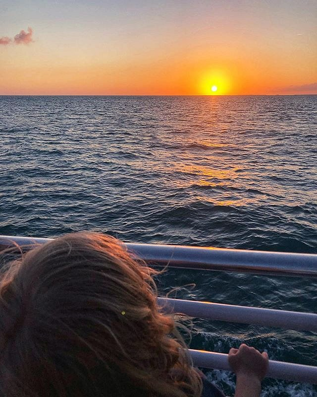 Ok, Yea. I went to Key West and made a sunset pic. That's Errol taking it all in. I'm lucky - and grateful - I can help make the world a bigger place for my kid. #keywest #florida #southernmostusa #sunset #family