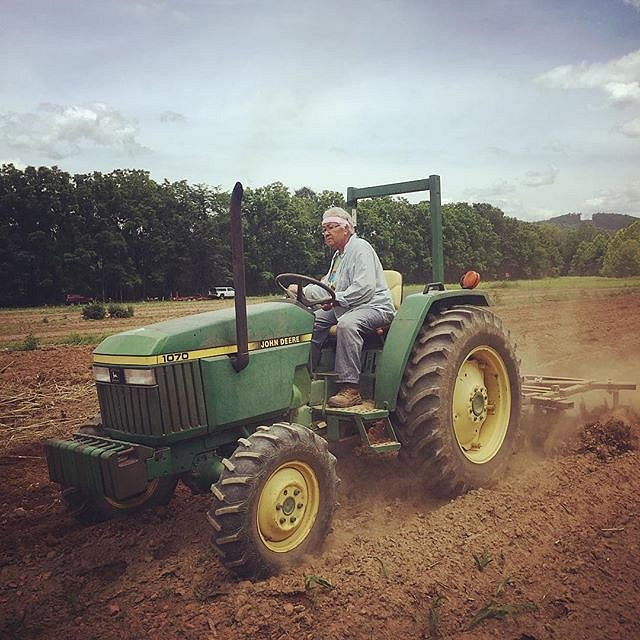 Today Amy Walker, 75, invited me to her 4 acre garden on sacred Cherokee land. She drove a tractor, we planted beans, and we shared stories of being women & mothers; stories of love, loss, learning, and healing. Today was a gift. #cherokee #northcarolina